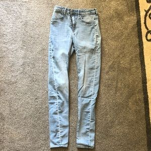 Light blue skinny jeans made by Divide by H&M